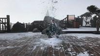 Mờ sáng ngắm tuyết rơi trắng tinh khôi trên đỉnh Fansipan
