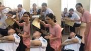 Nam sinh ngủ gật được cô giáo 'chăm sóc tận tình' gây sốt