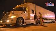 CSGT trắng đêm tổng kiểm tra xe container, 1 tài xế dương tính với ma túy