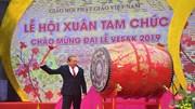 Phó Thủ tướng Trương Hòa Bình đánh trống khai hội chùa Tam Chúc