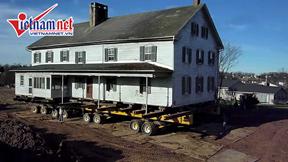 """""""Thần đèn"""" tại Mỹ mỗi năm di dời hàng trăm ngôi nhà"""