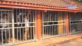 Dựng rào chắn khu phát ấn đền Trần