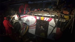Bolivia: Xe bus đấu đầu xe ben, 24 người thiệt mạng