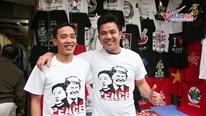 Kiếm bội tiền nhờ bán áo in hình Tổng thống Trump và Chủ tịch Kim