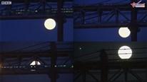 Ngắm siêu trăng tuyết chiếu sáng lung linh khắp thế gian
