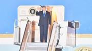 Lễ đón Tổng thống Donald Trump tại sân bay Nội Bài