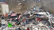 Sạt lở đất 'cuốn bay' 2 tòa nhà ở Trung Quốc