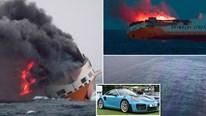 Hàng nghìn siêu xe triệu đô cháy rực trên Đại Tây Dương