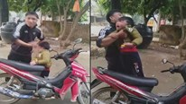 Phẫn nộ cảnh ông bố tát đôm đốp vào mặt con nhỏ để thách thức vợ cũ