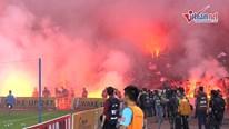 'Biển lửa' đáng sợ ở sân Hàng Đẫy: HLV Hà Nội - Hải Phòng nói gì?