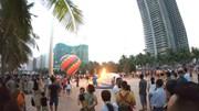 Đà Nẵng: Khinh khí cầu bất ngờ bốc cháy, nữ phi công nhập viện