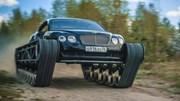 Siêu xe Bentley gắn bánh xích thành xe tăng