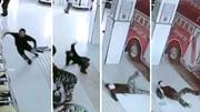 Nhận nhiệm vụ khẩn cấp, lính cứu hỏa thi nhau ngã 'trượt vỏ chuối'