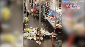 Núi phế thải hôi thối trên tàu điện ngầm ở Mỹ