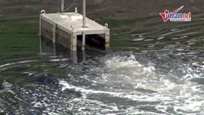 Sông Tô Lịch giảm mùi hôi sau 3 ngày dùng công nghệ Nhật Bản