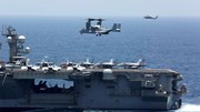Cận cảnh dàn tàu chiến, máy bay Mỹ phô diễn sức mạnh 'dằn mặt' Iran