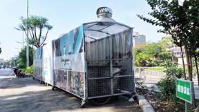 Xuất hiện hàng loạt 'nhà ở di động' cho xe rác trên các tuyến phố Thủ đô