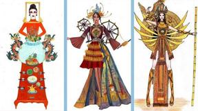 Phát sốt vì trang phục dân tộc 'Bàn thờ' của Hoa hậu Hoàn vũ VN