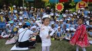 Những hình ảnh hiếm hoi trẻ em Triều Tiên mừng ngày Quốc tế Thiếu nhi