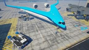 Máy bay thế hệ mới hình chữ V, không thân không đuôi