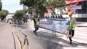 Hà Nội: Rào chắn đường Trần Hưng Đạo phục vụ thi công ga ngầm