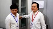 Bộ trưởng Phùng Xuân Nhạ thị sát khu lưu trữ đề thi, bài thi THPT Quốc gia