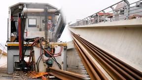 Đường sắt Nhổn – Ga Hà Nội gấp rút hàn ray bằng máy hàn công nghệ cao