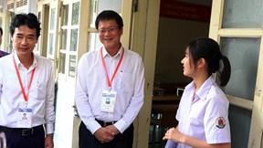 Thứ trưởng Lê Hải An thị sát công tác coi thi THPT Quốc gia tại Hưng Yên