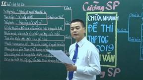Đáp án bài thi môn Ngữ Văn THPT Quốc gia 2019