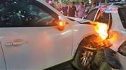 CX5 tông hàng loạt ô tô xe máy trên phố Hà Nội, 1 người bị thương nặng
