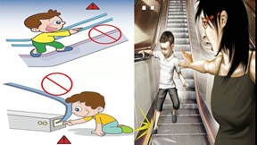 Những điều cần ghi nhớ để giúp bé đi thang cuốn an toàn