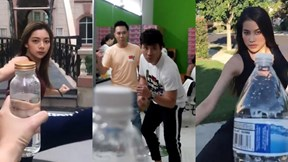 Trấn Thành, Phạm Hương hưởng ứng trào lưu xoay người đá nắp chai