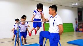 Lớp tập gym rèn sức khoẻ và kỷ luật cho bé mầm non ở Hà Nội