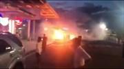 Xe Hyundai Santafe bất ngờ bốc cháy ở sân bay Đà Nẵng