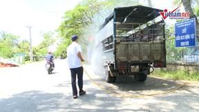 Ninh Thuận tiêu độc, khử trùng trên diện rộng ngăn dịch tả heo Châu Phi