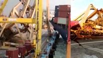 Indonesia: Cần trục khổng lồ đổ ụp xuống đầu công nhân trên bến cảng