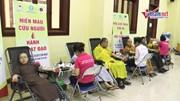 Gần 500 tăng ni sinh Học viện Phật giáo tham gia Hiến máu cứu người