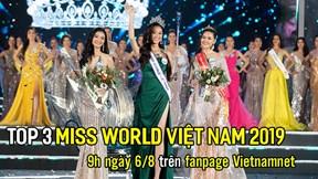Top 3 Miss World Vietnam 2019 giao lưu trực tiếp trên VietNamNet