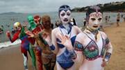 Những mẫu thiết kế 'facekini' kiểu mới khuấy động các bãi biển Trung Quốc