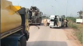 CSGT Bắc Giang nổ súng trấn áp xe khách biển giả bỏ chạy trên cao tốc