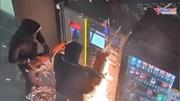 Nhóm trộm mang hẳn máy cắt cưa cây ATM lấy tiền