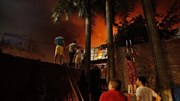 Vụ cháy lớn tại Cty bóng đèn phích nước Rạng Đông: Lửa vẫn đang lan rộng