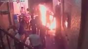 Nam thanh niên mang xăng phóng hỏa đốt tiệm cầm đồ