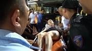 Fan nữ trúng pháo sáng ở Hàng Đẫy bị dập đùi do sức nổ