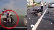 Băng qua ngã tư 'tử thần' người phụ nữ đi xe SH bị ôtô tông bất tỉnh