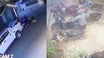 Cư dân mạng 'choáng' với nhóm trộm mang xe bán tải để trộm xe SH