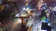Công nhân căng mình trong đêm lao dầm 70 tấn cầu cạn vành đai 3
