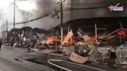 Cháy chợ tạm ở Thanh Hóa, 400 ki ốt bị thiêu rụi thành than