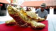 Chiêm ngưỡng cụ rùa vàng khổng lồ nặng gần 2 tạ giá trăm triệu đồng