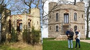 Cặp vợ chồng tự cải tạo lâu đài bỏ hoang thành căn hộ hiện đại cực đẹp